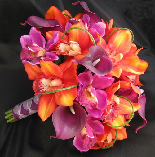Natural Touch Bouquet Calla Lily Cymbidium Orchid